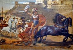 Peinture murale de L'Achilleion (Corfou) © Jean-Pierre Dalbéra
