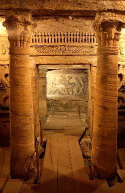 Egypte, Alexandrie, la necropole de Kom-El Shoqafa