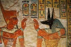 Egypte, Louxor, rive ouest, la necropole thebaine, vallee des Reines (Wadi el-Malikat), la tombe d'Amon Her-Khopeschef