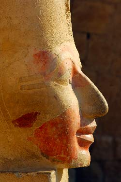 Egypte, Louxor, rive ouest, la necropole thebaine, Medinet Habu temple de Ramses III
