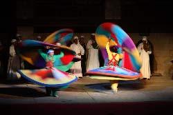 Egypte, le Caire, spectacle de Derviche tourneur