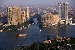 Egypte, le Caire, vue depuis la Cairo Tower