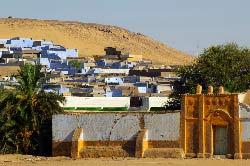 Egypte, Assouan, la rive ouest, village nubien