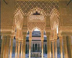 Cour des Lions. Alhambra, Granada