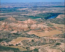Vue des Monegros, Belchite, Zaragoza