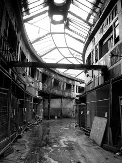 Burnt heritage, North Street Arcade, Belfast © identity chris is