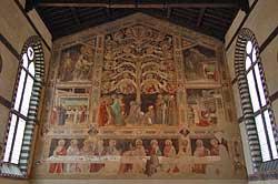 Eglise Santa Croce - L'Arbre de la Croix et La dernière Cène de Taddeo Gaddi - Florence © John Spoone