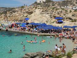 Busy Blue Lagoon, Comino, Malta © Shepard4711