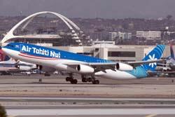 Air Tahiti Nui A340-300 F-OSUN departing LAX © BriYYZ