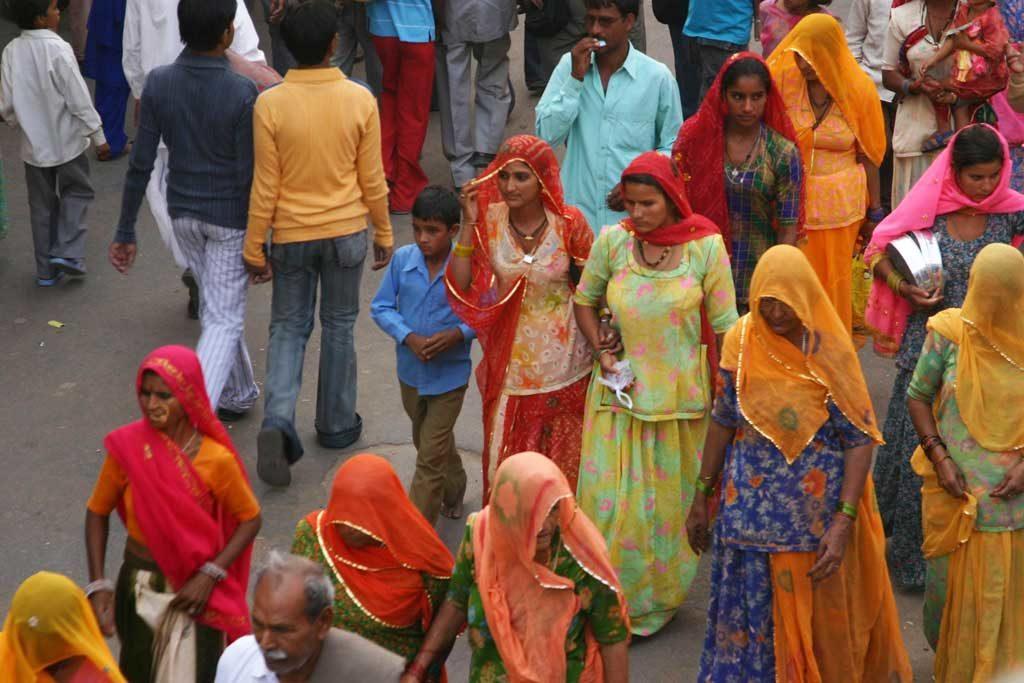 Femmes en sari - Pushkar, Inde