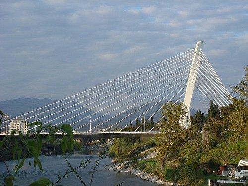 Podgorica - bridge in downtown