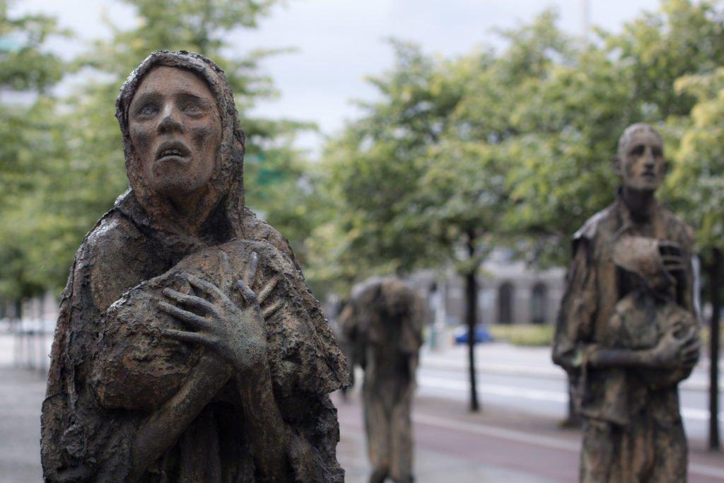 Dublin, monument commémoratif de la Grande Famine