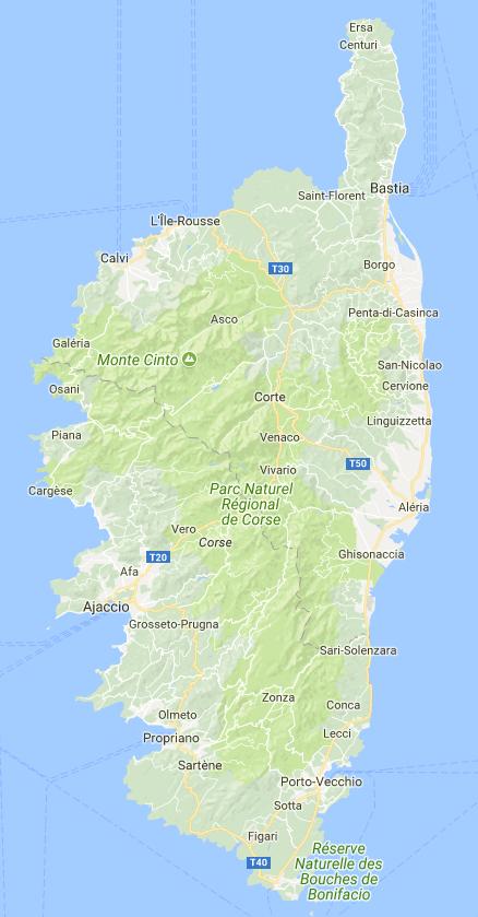 Corse Map