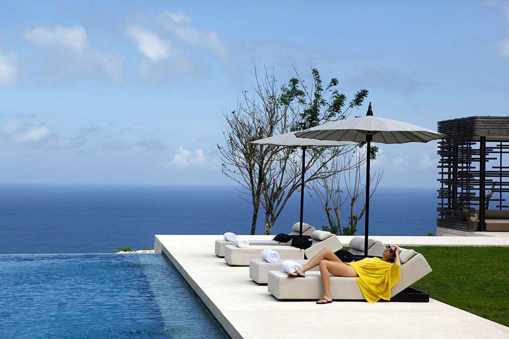 Alila Villas Uluwatu, chambre triple avec piscine - Bali, Indonésie