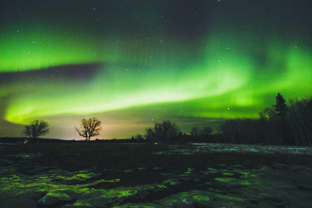 Aurore boréale - Winnipeg, Manitoba, Canada