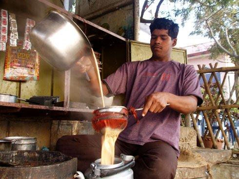 Vendeur ambulant de Chai - Inde