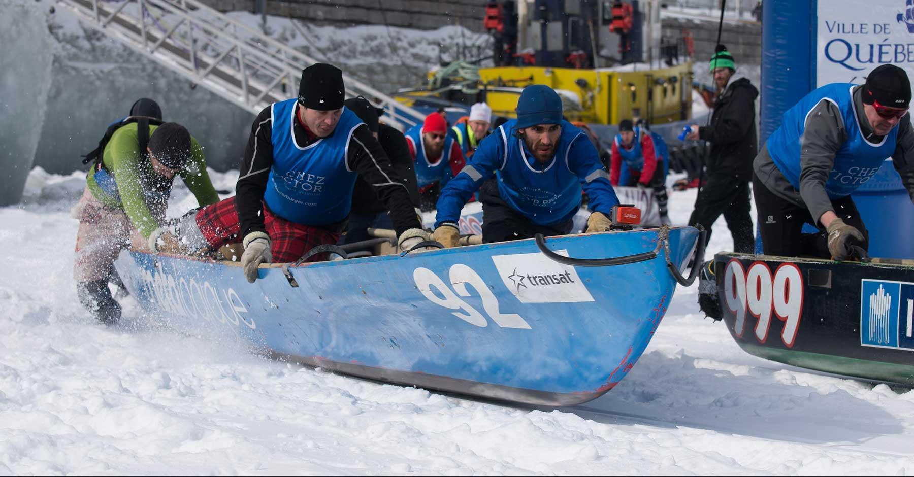 Le canot à glace – un sport canadien qui n'est pas pour les petites natures