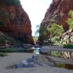 Paysage d'Ellery Creek, Alice Springs, Australie