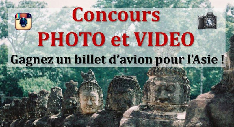 Réglement du concours Photo et Vidéo de voyage «gagnez 2 billets d'avion pour l'Asie»