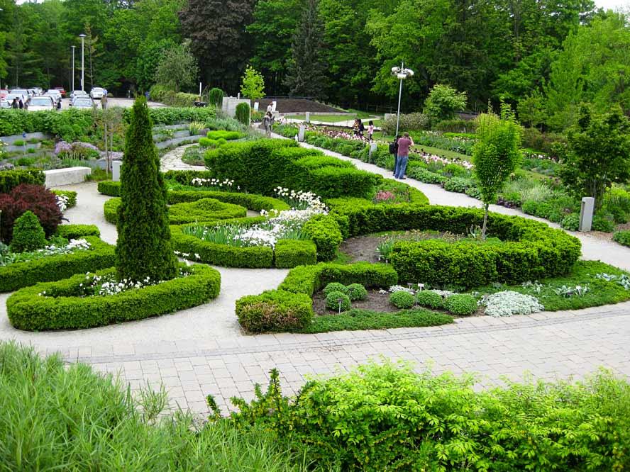 Knot Gardens, Jardin botanique de Toronto, Canada