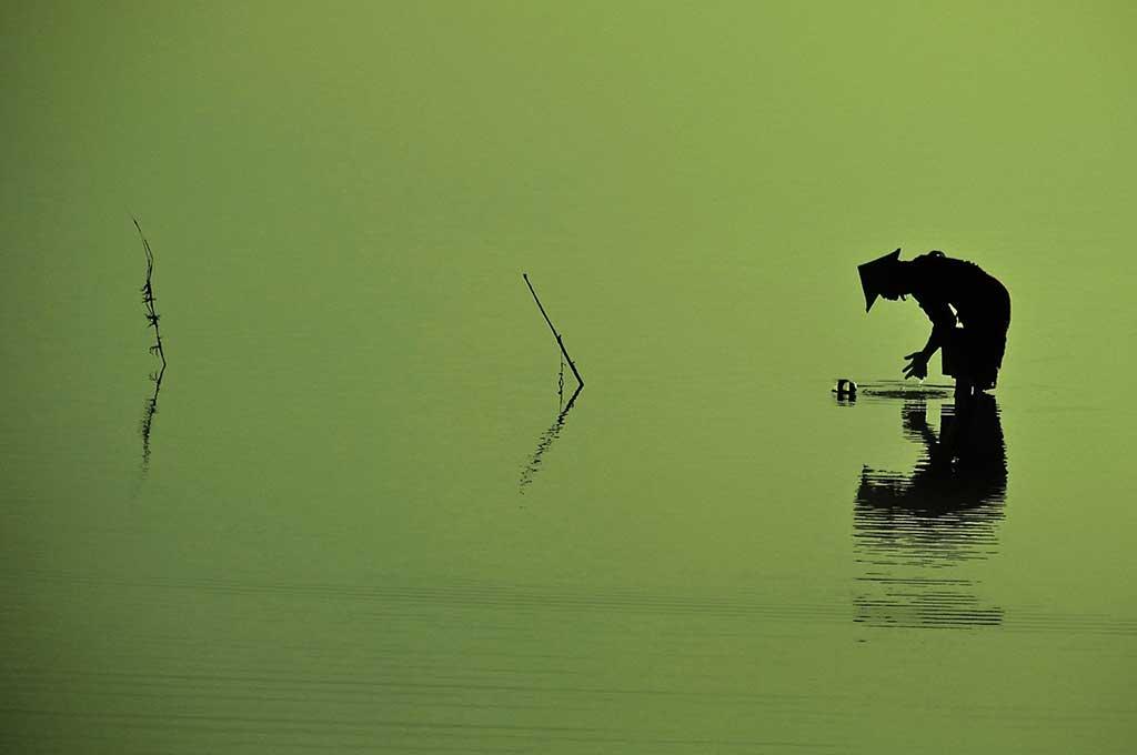 Lac Taungthaman à Mandaley en Birmanie
