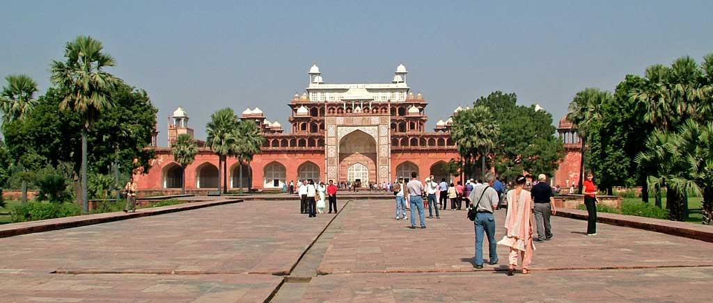 Le Mausolée d'Akbar - Agra, Inde