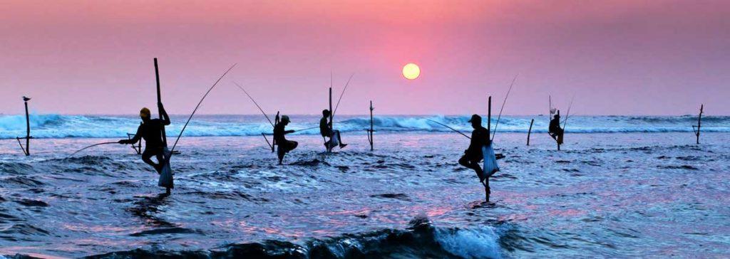 Pêcheurs sur échasses, Galle, Sri Lanka