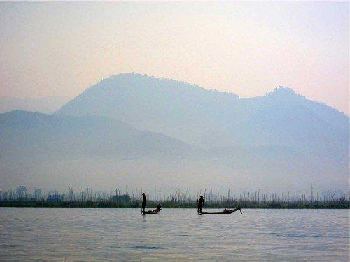 Pêcheurs - Lac Inle, Birmanie