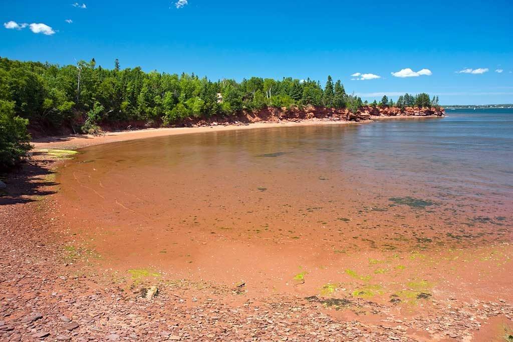 Plage rouge, Île du Prince Edouard, Canada