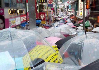 Il pleut au Japon