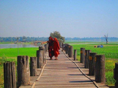 Pont d'U Bein - Amarapura, Birmanie