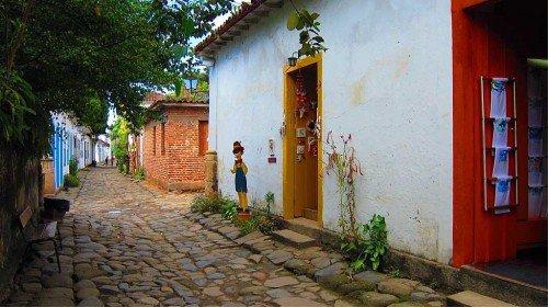 Rue à Paraty, Brésil