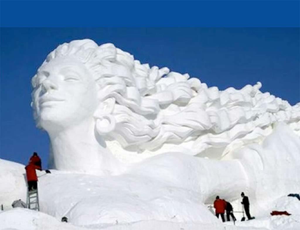 Sculpture de glace, carnaval de Québec, Canada