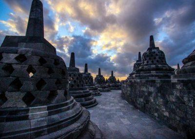 Temple de Borobudur - Java, Indonésie
