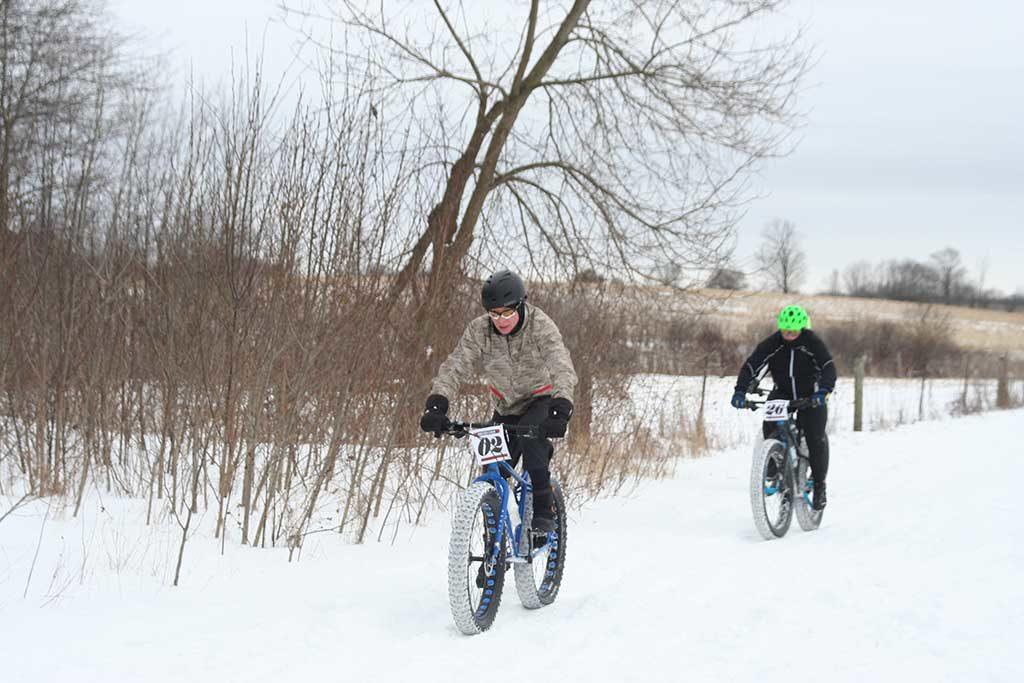 Vélos d'hiver, Grand River South, Gare de Kitchener, Ontario, Canada