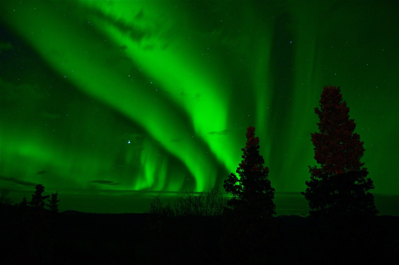 Aurorre boréale au Yukon - Canada